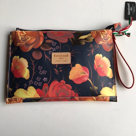 05ad31cf6013 Cavalcanti Floral Genuine Leather Wristlet Clutch.